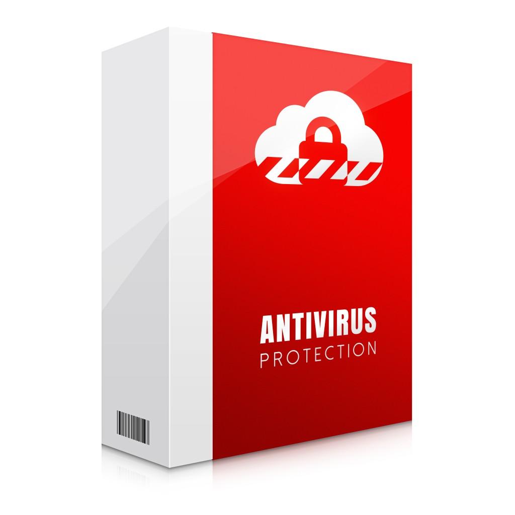 Czerwona ilustracja oprogramowania antywirusowego