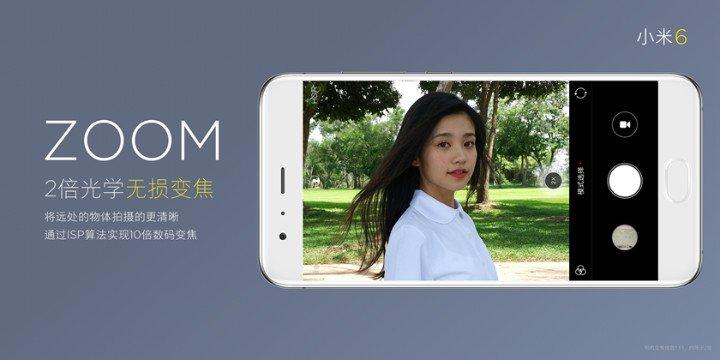 Xiaomi Mi 6 zoom aparat