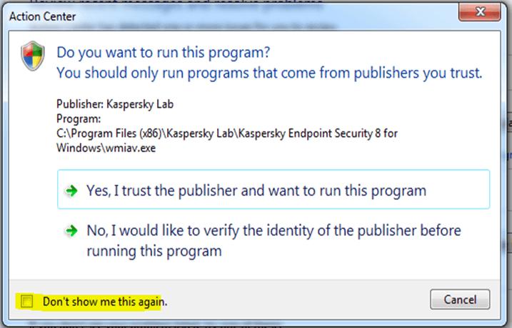 Kaspersky Lab Windows 10
