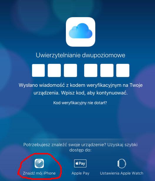 iCloud znajdź iPhone