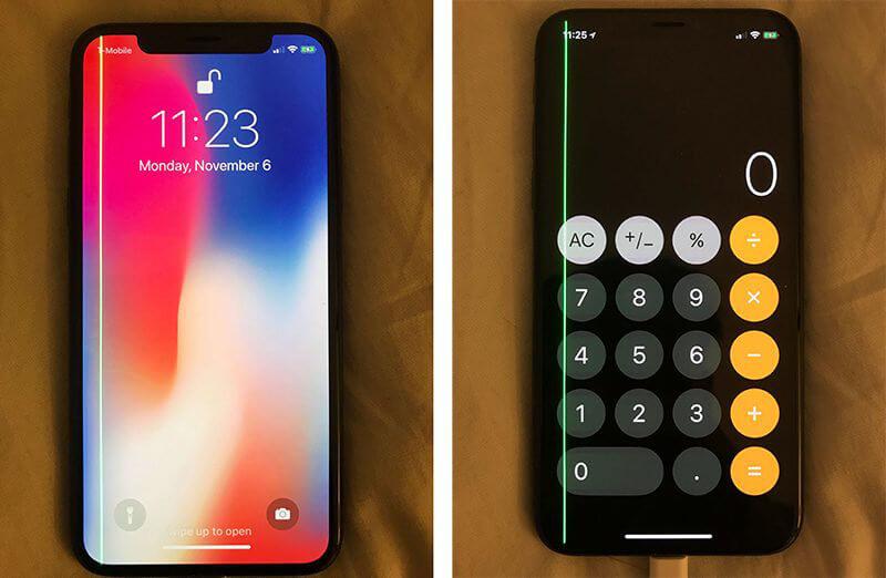 iPhone X zielona linia