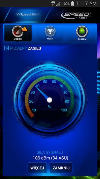 Speed Test miernik sygnału