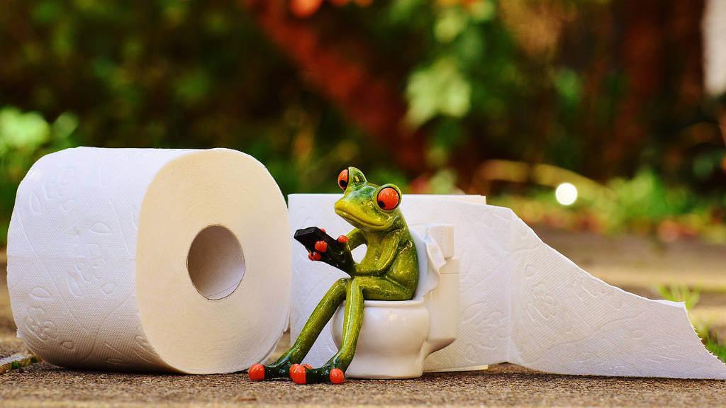 toaleta smartfon