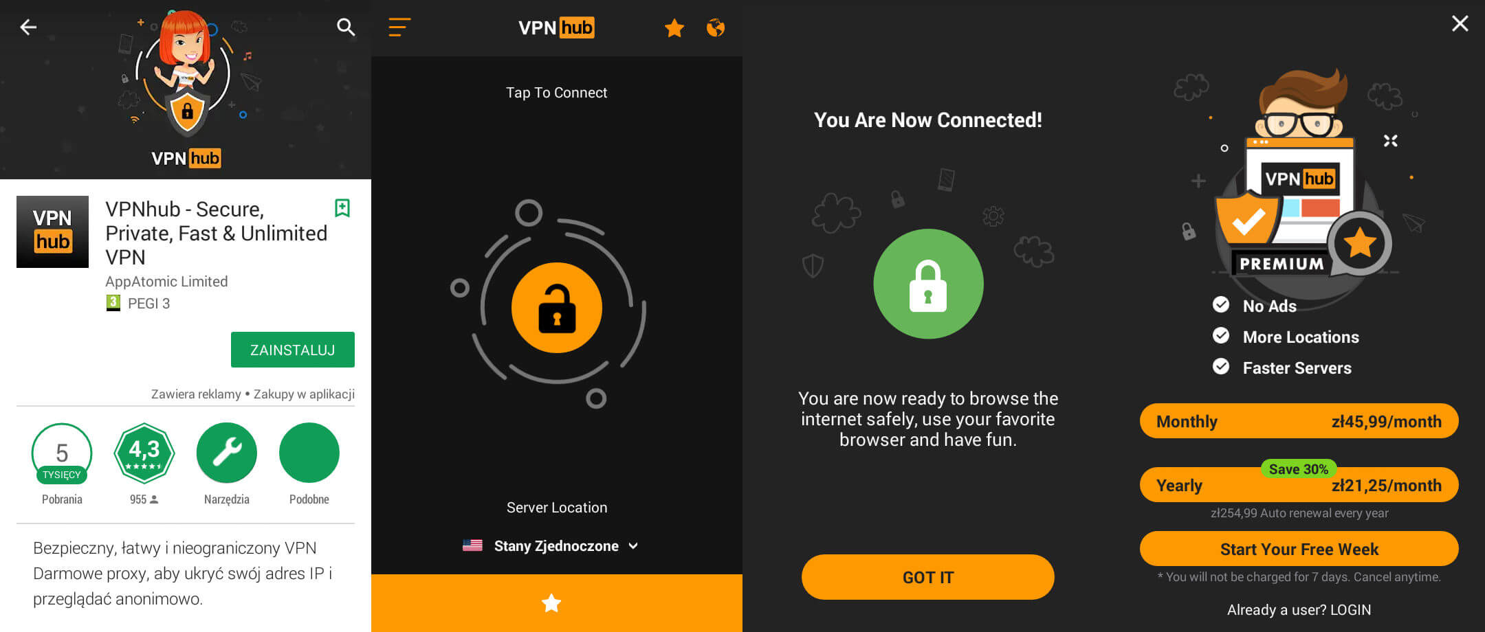 PornHub VPNhub