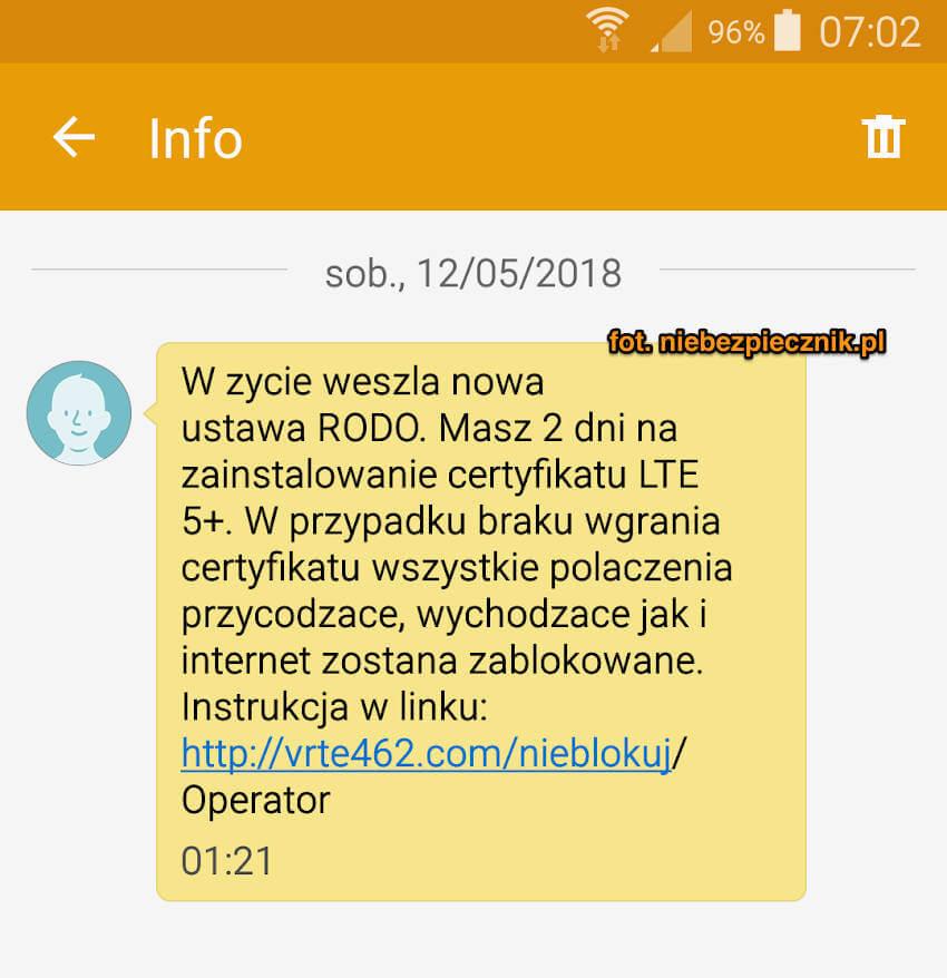 certyfikat LTE 5+ RODO