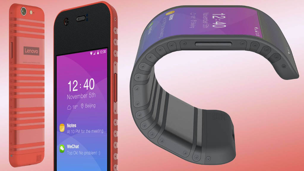 Lenovo zginany smartfon