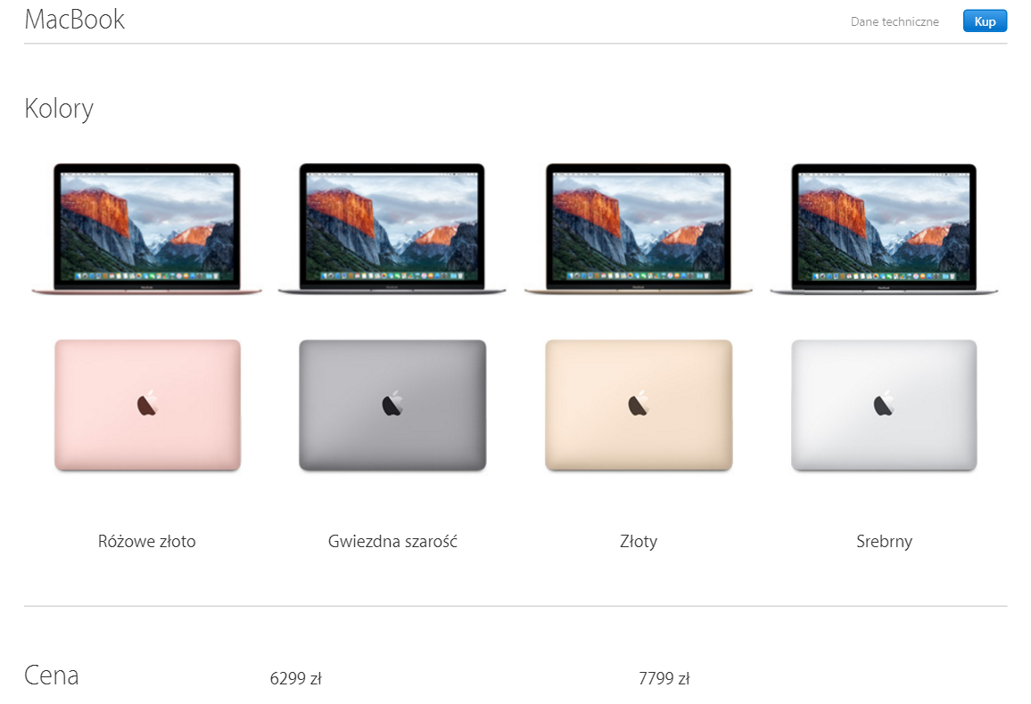 Apple od wie a swoje 12 calowe macbooki ale czy warto for What colour roses can you get