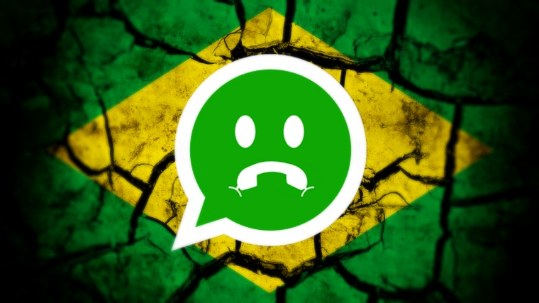 Brazylia od cięta od WhatsApp'a