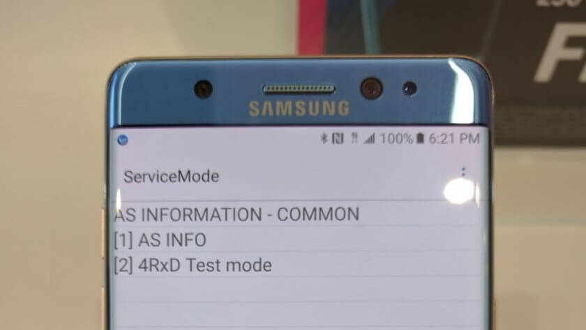 Samsung Galaxy Note 7 MIMO 4x4