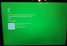 Windows 10 zielony ekran śmierci