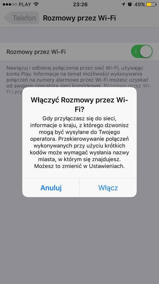 Wi-Fi Calling iPhone Play