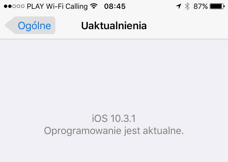 iPhone iOS 10.3.1