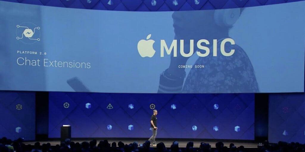 apple music facebook messenger