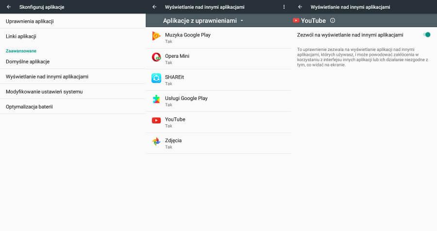 Android wyświetlanie nad innymi aplikacjami