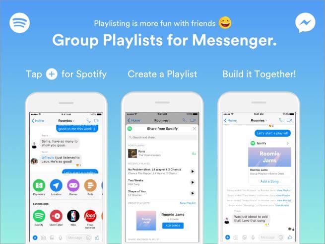 spotify, messenger, spotify chat, imusic, grupowe playlisty