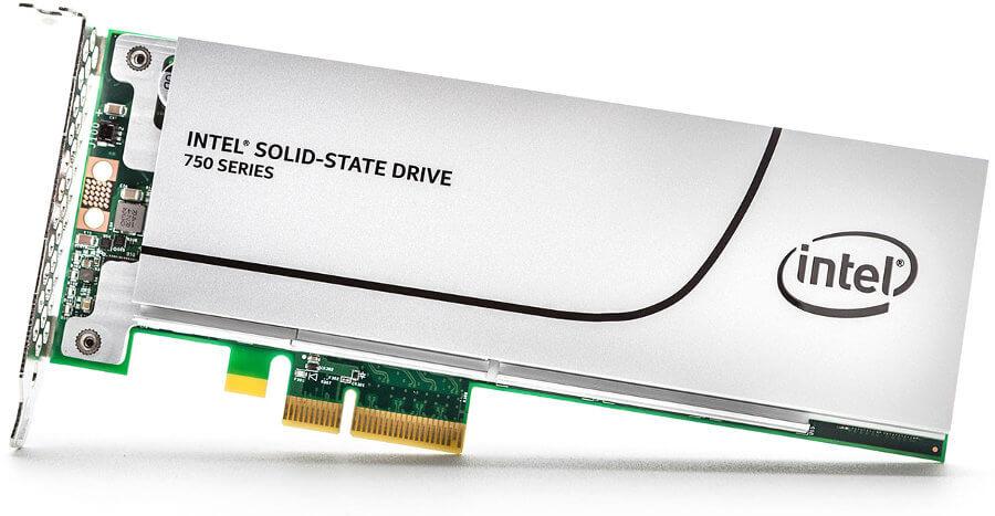 Intel PCIe NVMe SSD 750 series