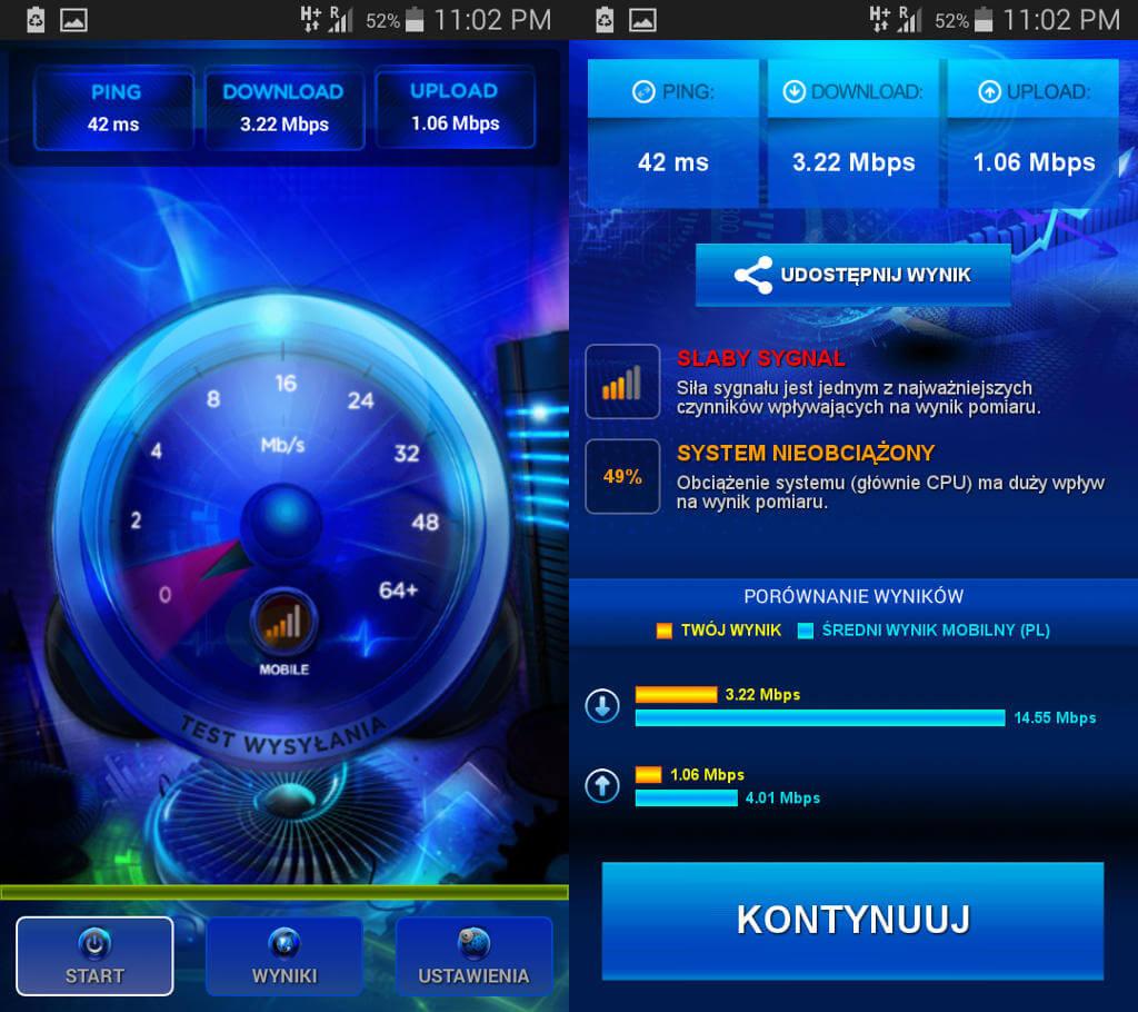 Play roaming Speed Test