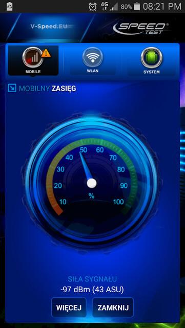 Speed Test sygnal