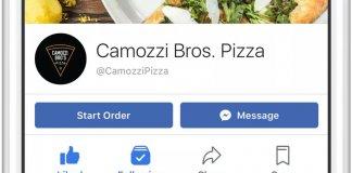 Facebook zamawianie jedzenia