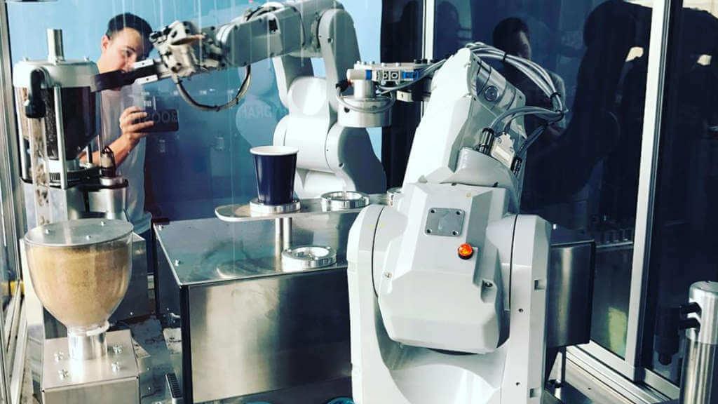 Once Alike robot barista