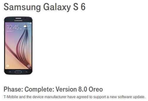 Galaxy S6 Oreo