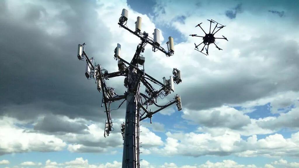 dron stacja bazowa