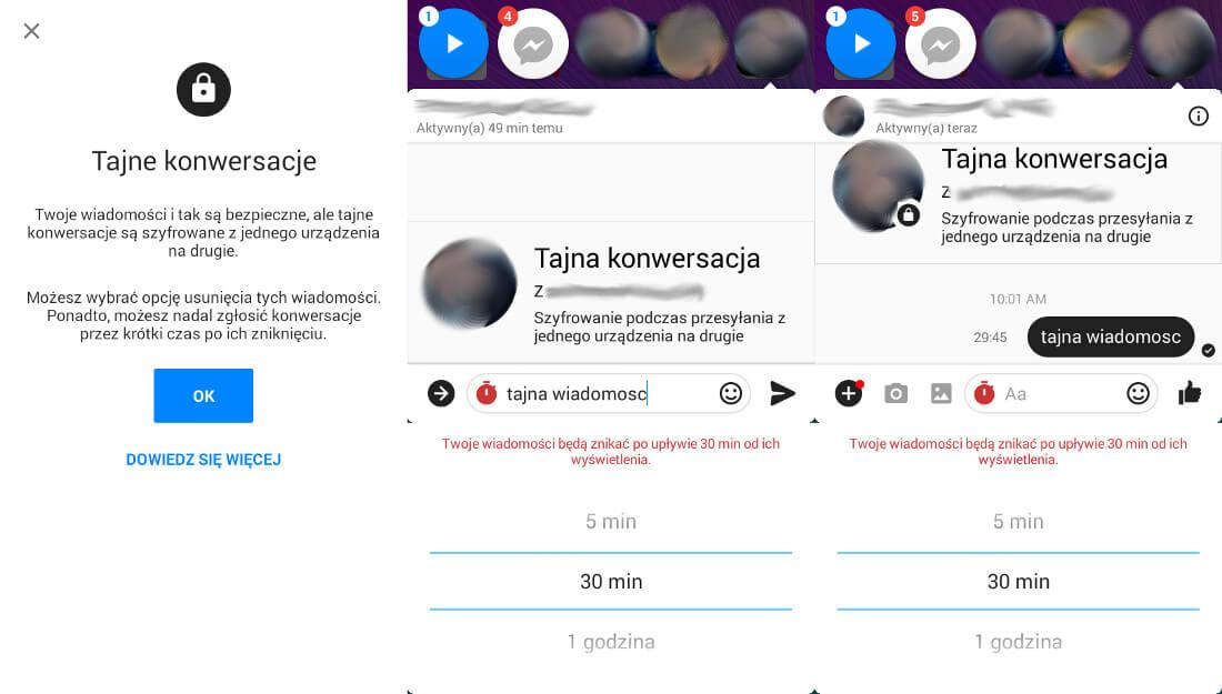 Facebook-Messenger tajna konwersacja