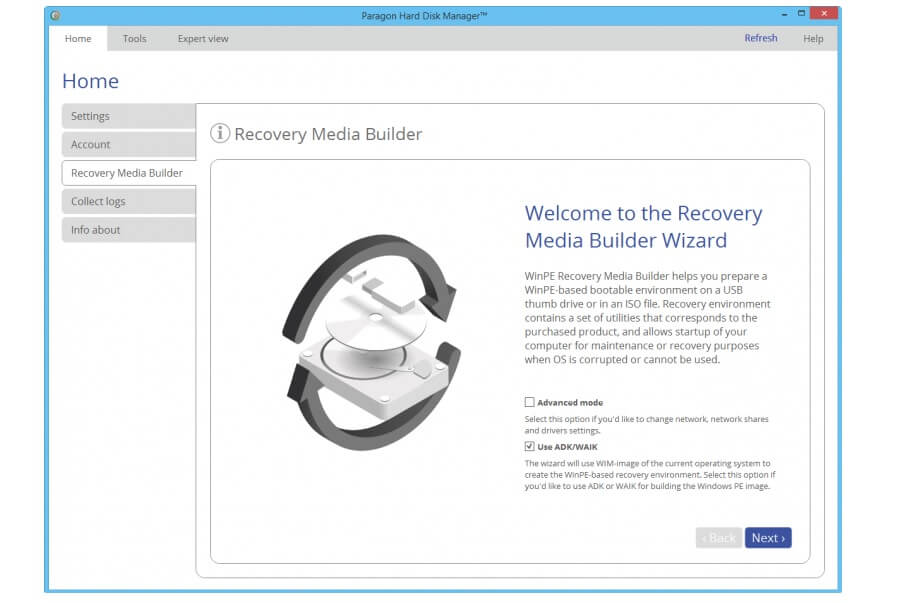 Paragon Backup & Recover Advanced