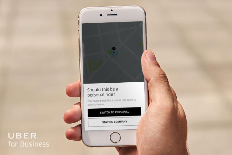 Uber dla Firm sztuczna inteligencja