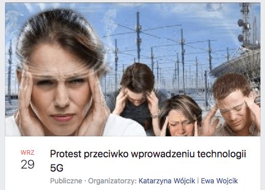 5g, gliwice, protest
