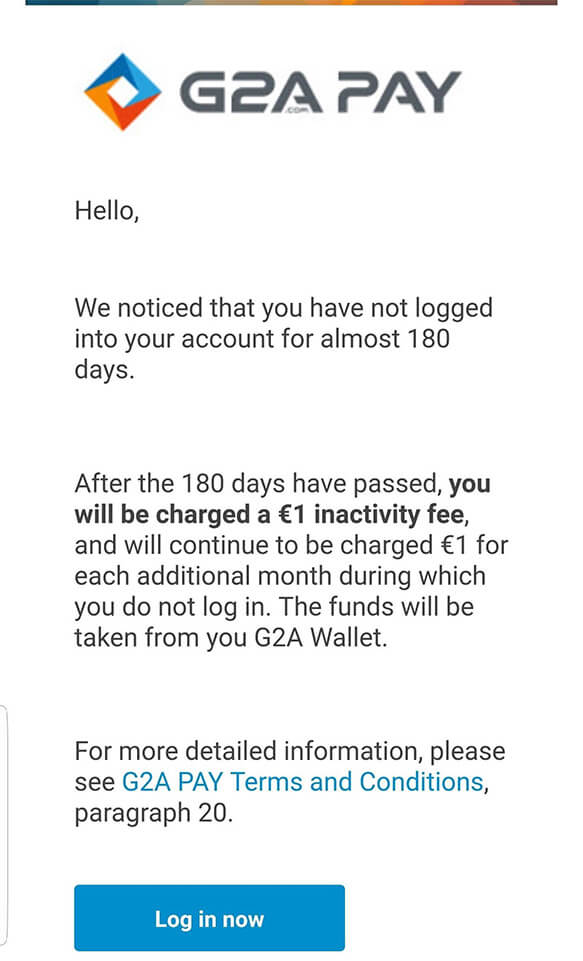 G2A inactive