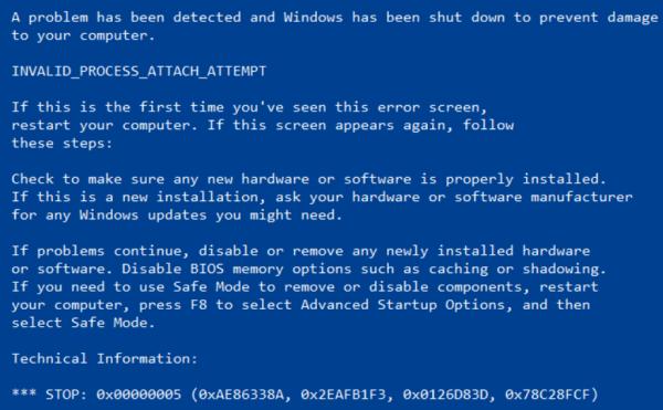 windows, bleu screen,