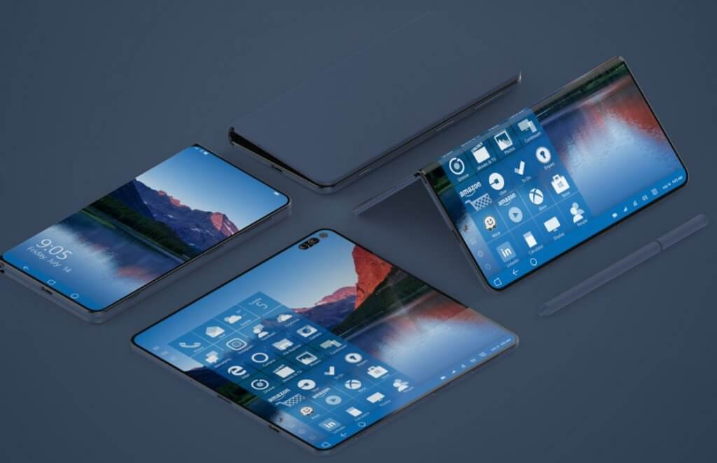składane smartfony, samsung galaxy fold, huawei mate x