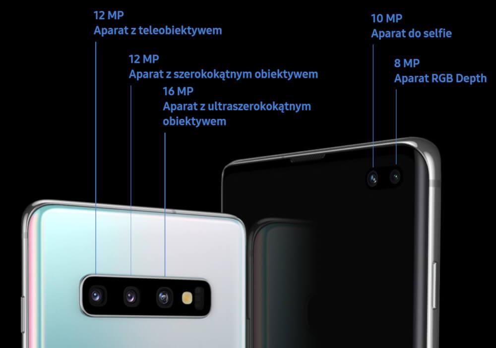 Samsung Galaxy S10 aparaty