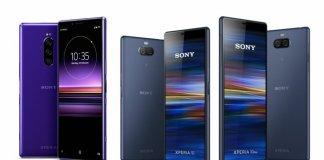 Sony 2019 Xperia 1, Xperia 10, Xperia 10 Plus