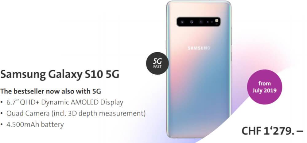 Samsung Galaxy S10 5G cena