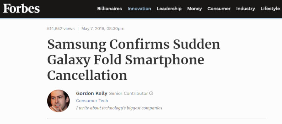Galaxy Fold Forbes