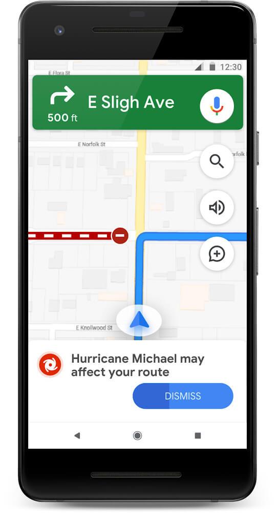 Mapy Google kataklizm nawigacja
