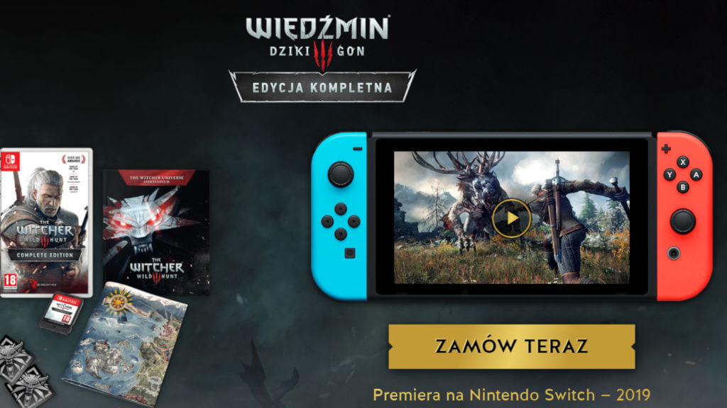 Wiedźmin 3 Nintendo Switch