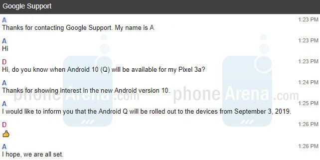 Android 10 premiera