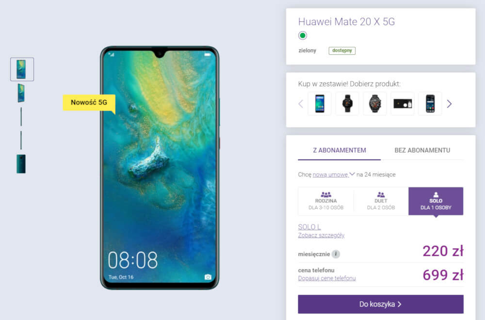 Huawei Mate 20 X 5G Play cena