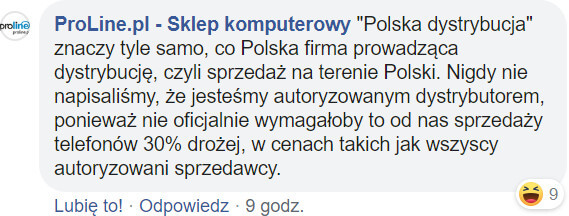 ProLine polska dystrybucja