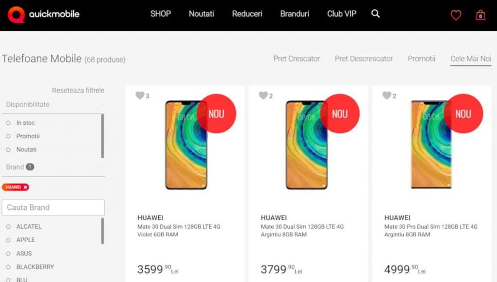 Huawei Mate 30 Pro Rumunia