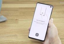 Samsung Galaxy S10 czytnik linii papilarnych
