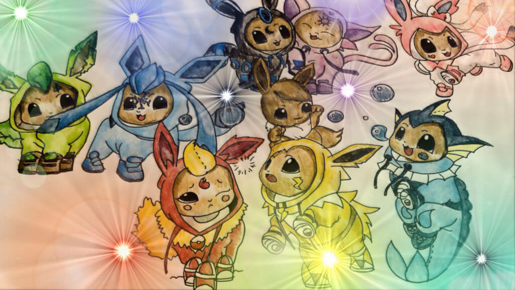 Pokemon, Sword, Shield, Nintendo, Switch, Galar, Eevee, Evolution, Eeveelution, Flareon, Jolteon, Vaporeon, Glaceon, Leafeon, Epseon, Umbreon, Sylveon,