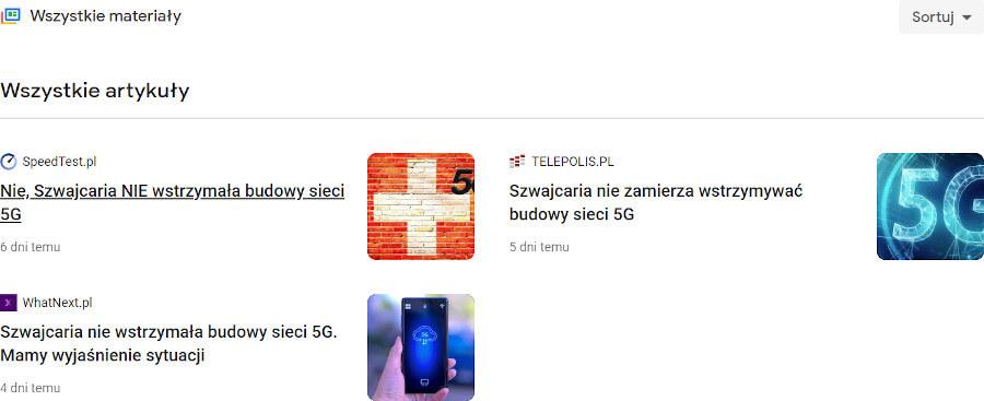 Szwajcaria 5G google