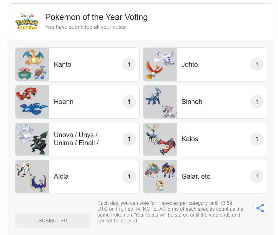 głosowanie na pokemona,