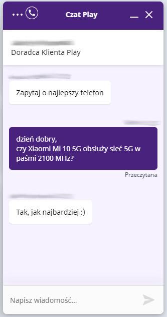 Play Xiaomi Mi 10 5G rozmowa
