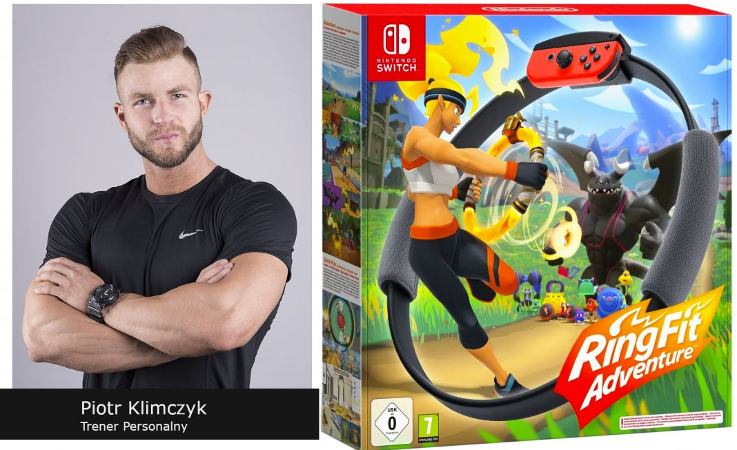 Nintendo Ring Fit Adventure, recenzja, trener personalny, Piotr Klimczyk, switch,