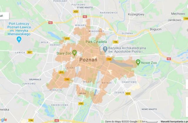 zasięg 5G Poznań